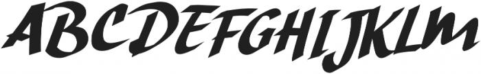 Hand Strike otf (400) Font UPPERCASE