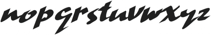 Hand Strike otf (400) Font LOWERCASE