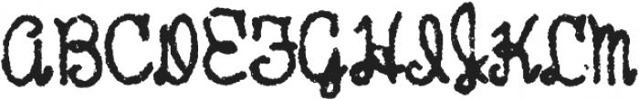 Hand Writer Rough ttf (400) Font UPPERCASE