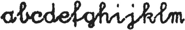 Hand Writer Rough ttf (400) Font LOWERCASE