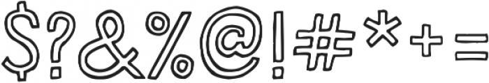 HandDeco Outline ttf (400) Font OTHER CHARS