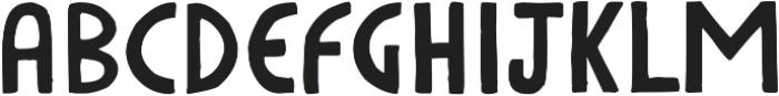 HandDeco Regular ttf (400) Font UPPERCASE