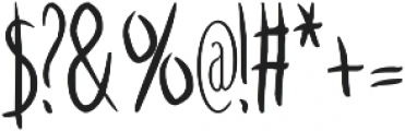HandDrawFont_NEW otf (400) Font OTHER CHARS