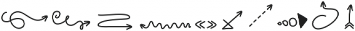 HandDrawnArrows ttf (400) Font OTHER CHARS