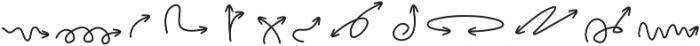 HandDrawnArrows ttf (400) Font UPPERCASE