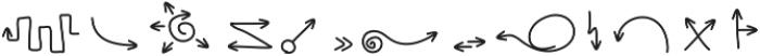 HandDrawnArrows ttf (400) Font LOWERCASE