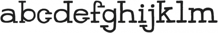 HandSlab-Regular otf (400) Font LOWERCASE