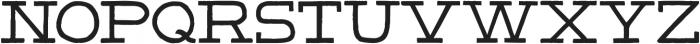 HandSlab-Regular ttf (400) Font UPPERCASE