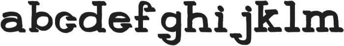 HandSlab-Shadow ttf (400) Font LOWERCASE