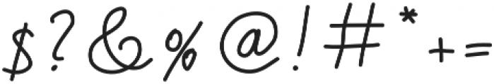 Handa otf (400) Font OTHER CHARS