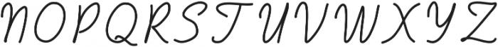 Handa otf (400) Font UPPERCASE