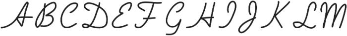 Handa ttf (400) Font UPPERCASE