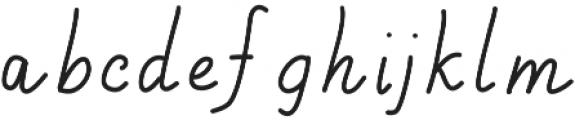 Handa ttf (400) Font LOWERCASE
