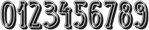 Handbill embossed otf (400) Font OTHER CHARS