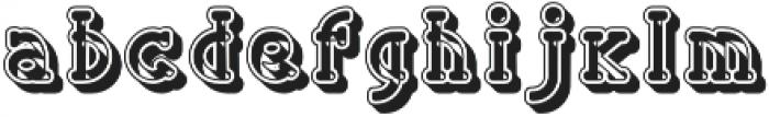 Handbill embossed otf (400) Font LOWERCASE