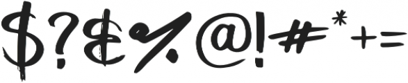 Handbrushed Regular otf (400) Font OTHER CHARS