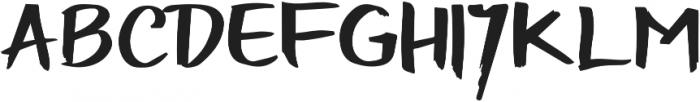 Handbrushed Regular otf (400) Font UPPERCASE