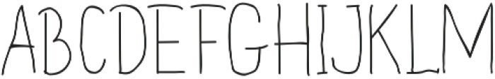 Handdraw Quaver otf (400) Font UPPERCASE