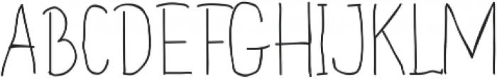 Handdraw Rafka ttf (400) Font UPPERCASE