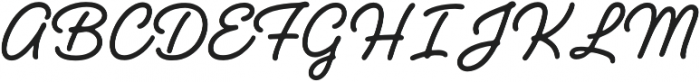 Handelson Three otf (400) Font UPPERCASE