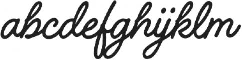 Handelson Three otf (400) Font LOWERCASE