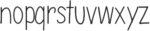 Handie Sans Cond Thin Handie Sans Cond Thin ttf (100) Font LOWERCASE