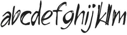 HandsUp otf (400) Font LOWERCASE