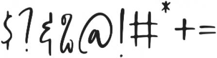 Handsel otf (400) Font OTHER CHARS