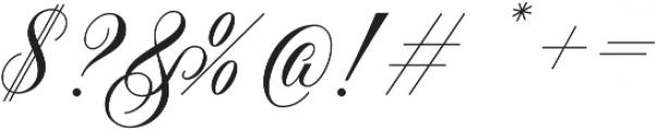 Handsome Script Bold otf (700) Font OTHER CHARS
