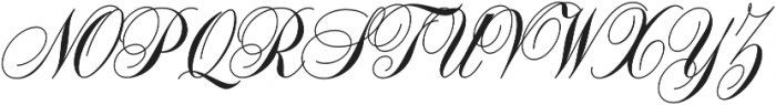 Handsome Script Bold otf (700) Font UPPERCASE