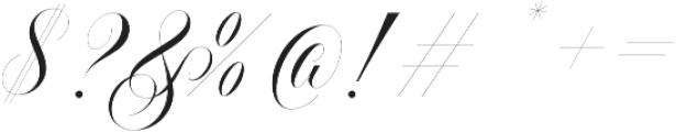 Handsome Script Light otf (300) Font OTHER CHARS
