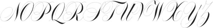 Handsome Script Light otf (300) Font UPPERCASE