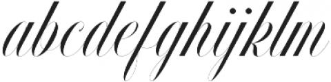 Handsome Script Light otf (300) Font LOWERCASE
