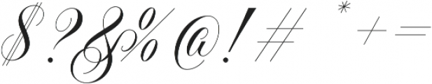 Handsome Script otf (400) Font OTHER CHARS
