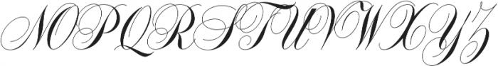 Handsome Script otf (400) Font UPPERCASE