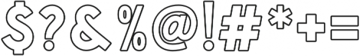Handsons Clean Outline otf (400) Font OTHER CHARS
