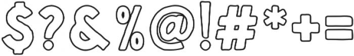 Handsons Rough Outline otf (400) Font OTHER CHARS
