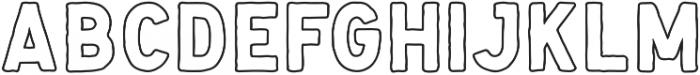 Handsons Rough Outline otf (400) Font LOWERCASE