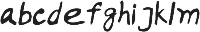 Handwritten Artem otf (400) Font LOWERCASE