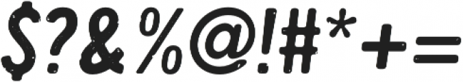 Handy Sans Condensed Distressed Oblique otf (400) Font OTHER CHARS