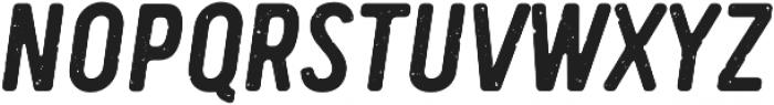 Handy Sans Condensed Distressed Oblique otf (400) Font UPPERCASE