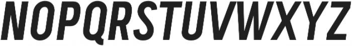 Handy Sans Condensed Oblique otf (400) Font UPPERCASE