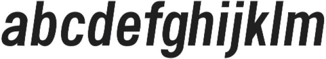 Handy Sans Condensed Oblique otf (400) Font LOWERCASE