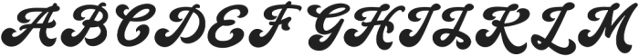 Handy Script otf (400) Font UPPERCASE