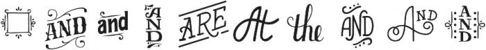 HandyAmpersands Fill otf (400) Font OTHER CHARS