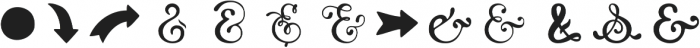 HandyAmpersands Fill otf (400) Font LOWERCASE