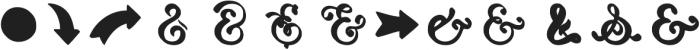 HandyAmpersands ShadowFill otf (400) Font UPPERCASE