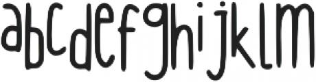 Hanging ttf (400) Font LOWERCASE