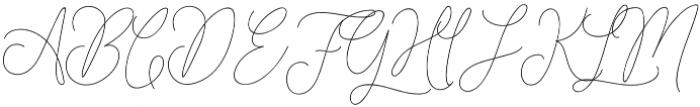 Hangover Script otf (400) Font UPPERCASE