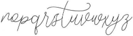 Hangover Script otf (400) Font LOWERCASE